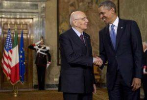 Barack Obama e Giorgio Napolitano