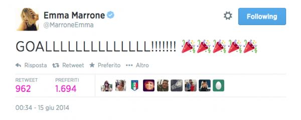 Emma Marrone su Twitter