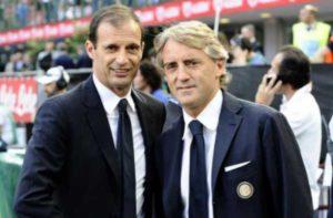 Inter Juventus 2015 - Una foto con Allegri e Mancini