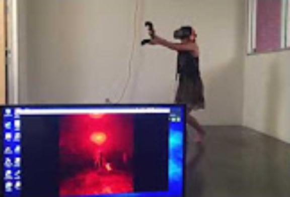 Reazione all'attacco di uno zombie con la Virtual Reality.