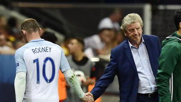 Roy Hodgson e Rooney Islanda Inghilterra Euro 2016