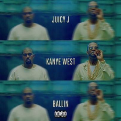 Juicy J e Kanye West video Ballin