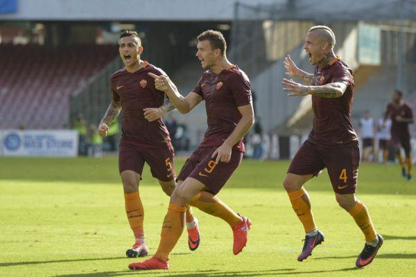 Napoli Roma 1 3 Dzeko 2 Salah