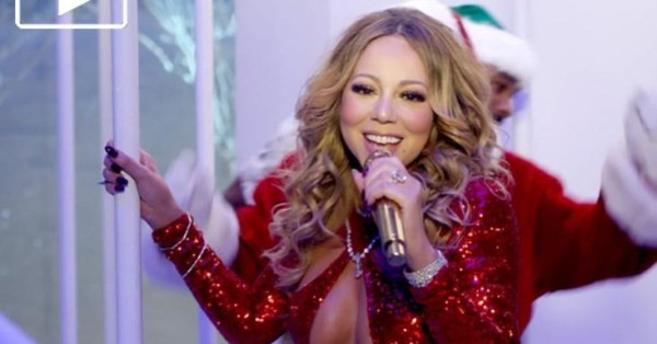 Mariah Carey sexy Here Comes Santa Claus