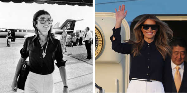 Melania Trump copia Jackie Kennedy - Melania Trump first lady senza stile