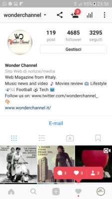 Profilo Aziendale su Instagram.