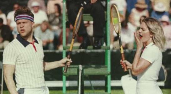 Olly Murs & Louisa Johnson come Borg Vs Mcenroe nel video di Unpredictable