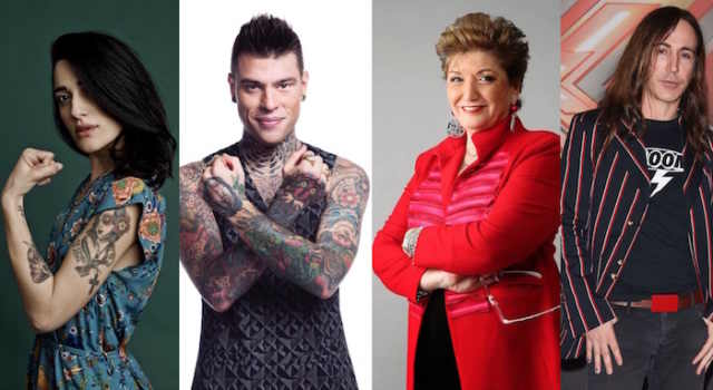 X Factor 11: da Fedez a Levante, assegnate le 4 categorie