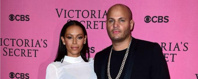 Melanie B insieme al marito prima del divorzio