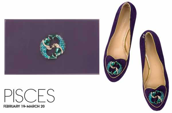 Charlotte Olympia Zodiac shoes and bag Pisces