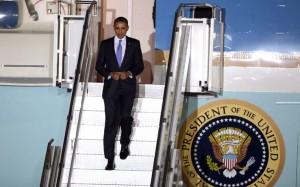 Barack Obama arriva in Italia
