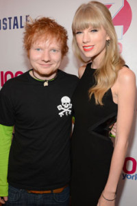Taylor Swift con Ed Sheeran