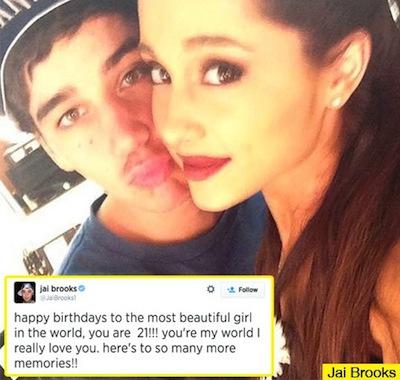 Jai Brooks e Ariana Grande