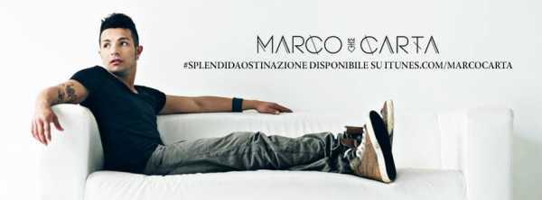 Marco Carta - Splendida Ostinazione Artwork Facebook