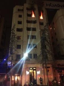 Plaza Italia a fuoco