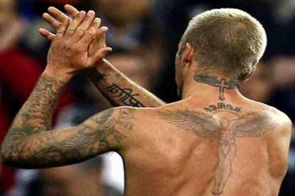 David Beckham Tatuaggio schiena