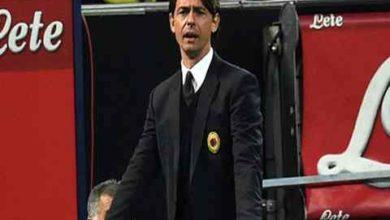 Foto di Filippo Inzaghi da allenatore del Milan