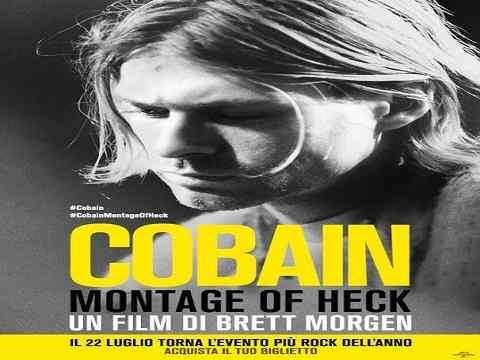 cobain montage of heck documentario - poster con Kurt Cobain