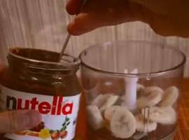 Gelato alla Nutella e Banana