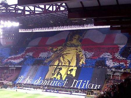 Inter Milan coreografia derby