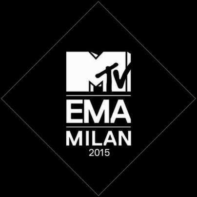 Il logo degli MTV EMA 2015 a Milano