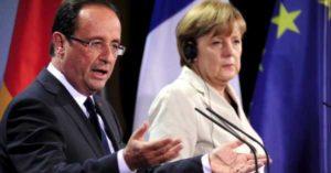 Hollande e Merkel sul caso migranti presso il Parlamento Europeo di Strasburgo.
