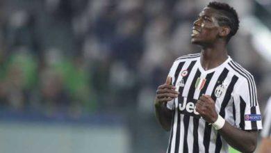 Pogba durante una partita di Champions League con la maglia della Juventus