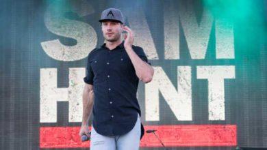 una foto del cantante country Sam Hunt