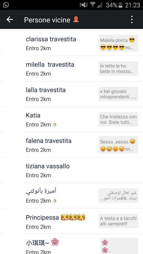 Prostituzione Italia Dati Badoo Gratis