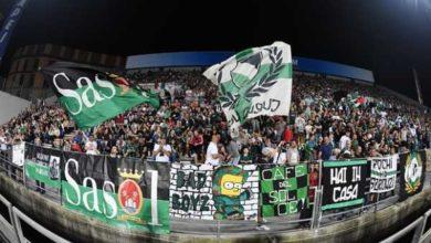 un'immagine dal Mapei stadium con i tifosi del Sassuolo