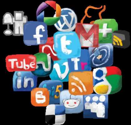 loghi dei diversi social media