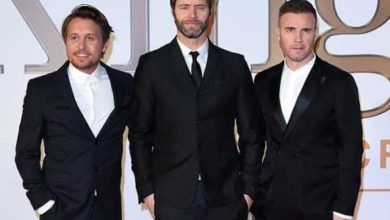 Una foto della band take that