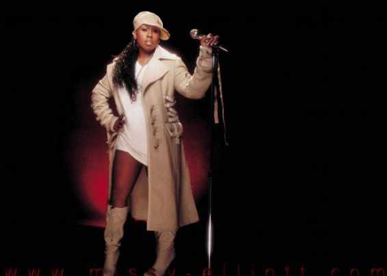 Missy Elliott in una foto nel palco