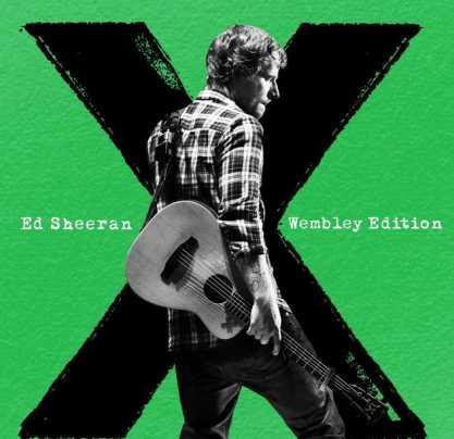 Ed Sheeran nella cover della wembley edition del suo album x