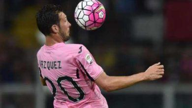 franco vazquez con la maglia del Palermo
