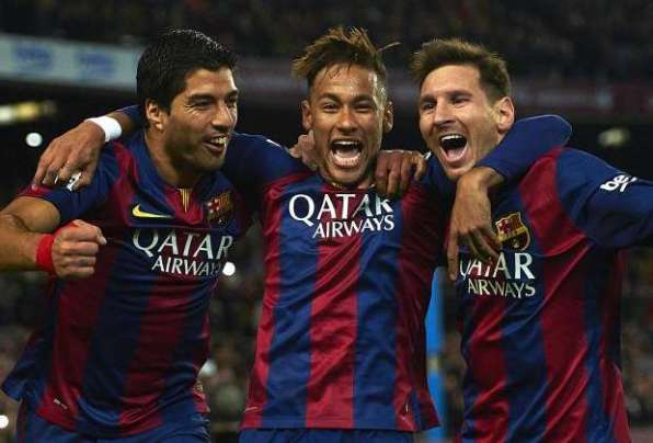Suarez, Neymar e Messi - Barcellona