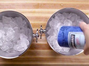 trucco per raffreddare lo champagne in pochi minuti