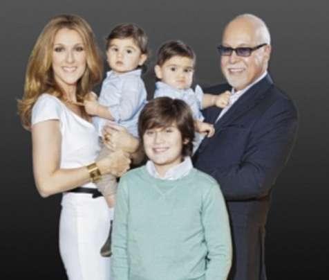 Celine Dion e la sua famiglia