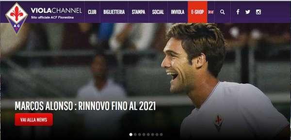 Marcos Alonso rinnovo contratto Fiorentina