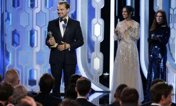 Leonardo Di Caprio Golden Globe 2016