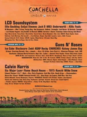 scaletta del Coachella 2016 conferma i Guns N' Roses