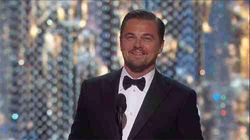 Leonardo DiCaprio premiazione Oscar 2016