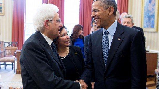 Obama e Mattarella febbraio 2016