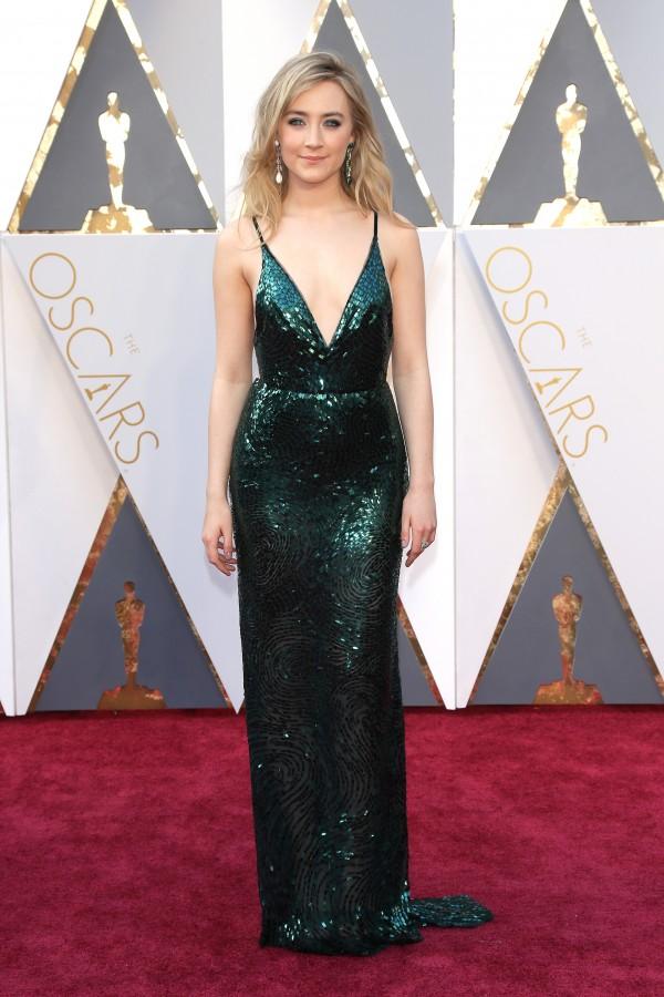 Saoirse Ronan abito Calvin Klein Oscar 2016