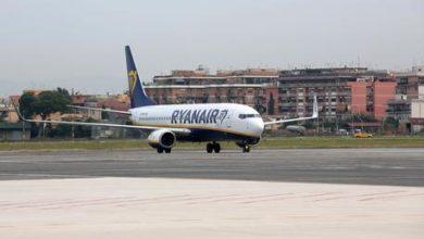 Aereo Ryanair in fase di decollo