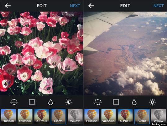creare un profilo perfetto su Instagram - Effetti di defalut su Instagram