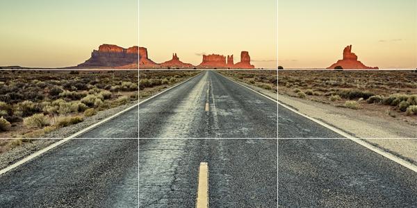 creare un profilo perfetto su Instagram - La regola dei terzi foto