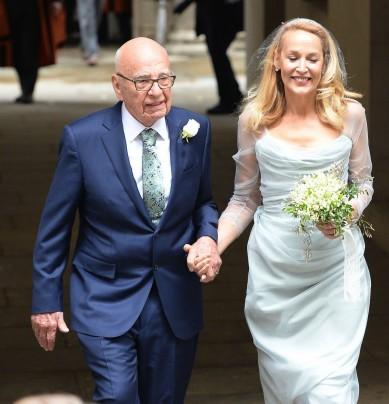 Rupert Murdoch e Jerry Hall sposi