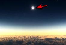eclissi solare dall'aereo
