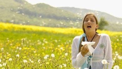 donna allergica al polline